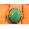 R#144 18K Y GOLD JADE RING