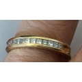 R#175 14k y gold wedding Band (0.50cts)