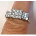 R#157 18K WHITE GOLD PAST/PRESENT/FUTURE RING (1.00CT)