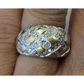 R#127 14k yellow gold Fashion Ring 1.00ct total in diamonds