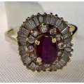 R#174 14K Y GOLD RUBY FASHION RING