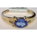 R#167 14K Y GOLD TANZANITE FASHION RING