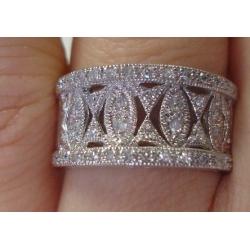 R#001 LADIES 14K W/GOLD PRINCESS FASHION RING (1.00ct) $795.00