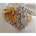 R#046 LADIES 14K Y/GOLD FASHION DIAMOND RING (1.00ct)