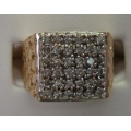 R#090  MEN'S 10K Y/GOLD DIAMOND FASHION RING (1.00ct) $600.00