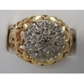R#092 MEN'S 10K Y/GOLD DIAMOND FASHION RING (0.50ct)  $600.00