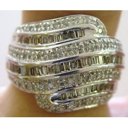 R#123 LADIES 14K W/GOLD FASHION RING (1.50cts)