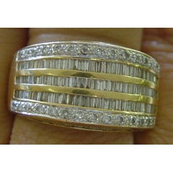 R#164 LADIES 14K Y/GOLD FASHION RING (3cts)  $1495.00