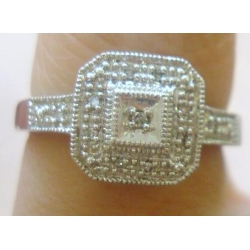 R#172 LADIES 14K W/GOLD ENGAGEMENT RING (.25cts)  $399.00