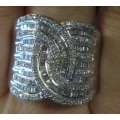 R#018 LADIES 14K W/GOLD DIAMOND FASHION COCKTAIL RING (2.00cts) $1495.00