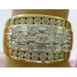 R#030 LADIES 18K Y/GOLD DIAMOND FASHION RING $1995.00