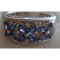 R#031 LADIES 14K W/GOLD DIAMOND & TANZANITE FASHION RING $1200.00