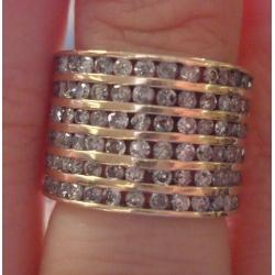 R#051 LADIES 14K Y/GOLD FASHION RING (2cts)