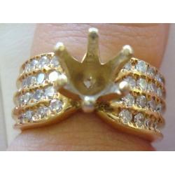 R#055 LADIES 14K Y/GOLD WEDDING RING  ~NO CENTER STONE $1200.00