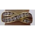R#061 LADIES 14K Y/GOLD FASHION RING (1.00 ct)  $1000.00