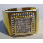 R#065 MEN'S 14K (1ct) DIAMOND FASHION RING  $