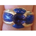 R#067 14K Y/GOLD TANZANITE FASHION RING  $1200.00