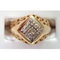 R#091 MEN'S 10K Y/GOLD DIAMOND FASHION RING (0.25cts) $400.00