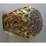 R#092 MEN'S 10K Y/GOLD DIAMOND FASHION RING (0.50ct)  $600.00
