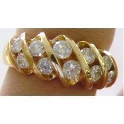 R#032 LADIES 14K Y/GOLD 1ct DIAMOND FASHION RING  $1295.00