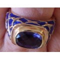 R#066  14K Y/GOLD TANZANITE FASHION RING $1000.00