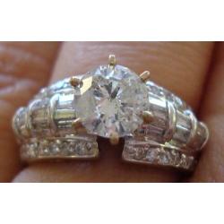 R#107 14K WHITE GOLD ENGAGEMENT/WEDDINGS RING $2800.00