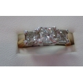 R#117 Ladies 14k Tutone Wedding and Engagment Ring. Past Present and Future. $3800.00
