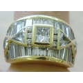 R#189 MEN'S 18K Y/ GOLD FASHION RING 8.75cts OF DIAMONDS TOTAL  $6650.00