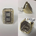 R# LADIES 14K TWO TONE FASHION RING APPROX 4.00CTS IN DIAMONDS $6999.00