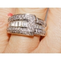 R# LADIES 14K WHITE GOLD APPROX 3.00cts. $1295.00
