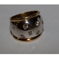 R#000 LADIES 14K TWO TONE FASHION RING