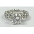 R# LADIES 14K W GOLD FASHION ENGAGEMENT RING $495.00