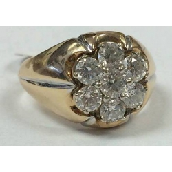 R#  MENS 14K Y GOLD approx. 2.35cts. Fashion Ring $3995.00