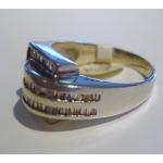 R#020 MEN'S 14K W/GOLD FASHION RING (1.70cts) $750.00