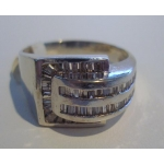 R#020 MEN'S 14K W/GOLD FASHION RING (1.70cts) $750.00