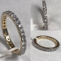 R# Diamond eternity band 14k yellow gold  Apx 1.02 ctw G. Si $1,100.00