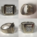 R# MENS 14K W GOLD RING (1.89cts)