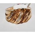 R# LADIES 10K Y GOLD FASHION RING