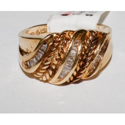 R# LADIES 10K Y GOLD FASHION RING