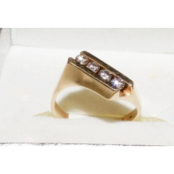 R#161 MENS 14K Y GOLD FASHION RING approx.(0.50cts)