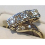 R#183 LADIES 14K W/ GOLD PAST,PRESENT, AND FUTURE RING (0.75cts)