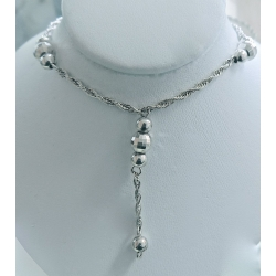 SN#015 LADIES STERLING SILVER NECKLACE