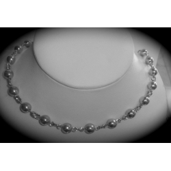 SN#006 LADIES STERLING SILVER FASHION NECKLACE