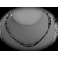 SN#017 LADIES SILVER FASHION NECKLACE