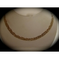 SN#014 LADIES (TRICOLOR) SILVER NECKLACE