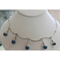 SN#010 LADIES STERLING SILVER NECKLACE