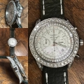 W#37 Breitling Bentley  Custom diamonds on olive leather strap $7,450.00