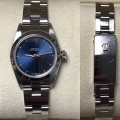 W#41 Rolex Ladies Oyster Perpetual Stainless Steel  Blue stick dial $2,695.00