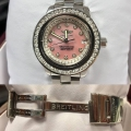 W#04 ladies stainless steel Breitling colt ocean custom mop diamond dial /bezel $3495.00