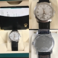 W#05 Rolex Cellini Platinum on black leather strap Box/papers/books $7,450.00